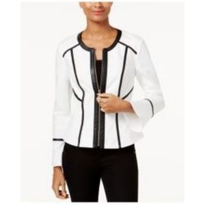 🆕 I. N. C. INTERNATIONAL BLACK AND WHITE BLAZER